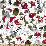 Doggie Holiday Christmas Toss White