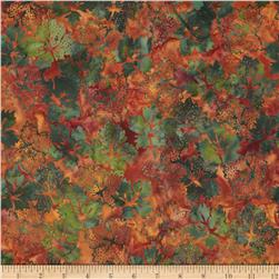 Bali Batiks Dotty Leaves Autumn