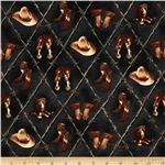 Round'em Up Boots & Hats Black