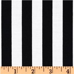 Classic Dots & Stripes Wide Stripe Black/White