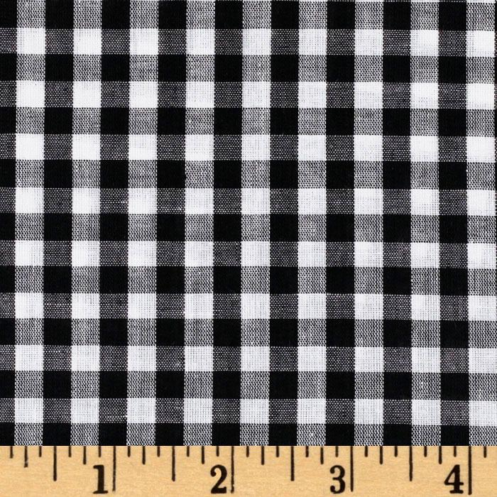 Woven 1/4&#39;&#39; Gingham Black