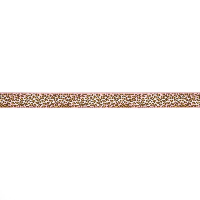 7/8&quot; Anna Maria Horner Ombre Leopard Ribbon Pink/Brown