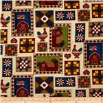 0270379 Down On The Farm Patchwork Multi