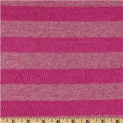 Designer Rayon Blend Jersey Knit Stripes Hot Pink