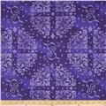 "108"" Quilt Backing Medallion Tonal Purple"