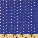 Stretch Bamboo Rayon Jersey Dot Blue