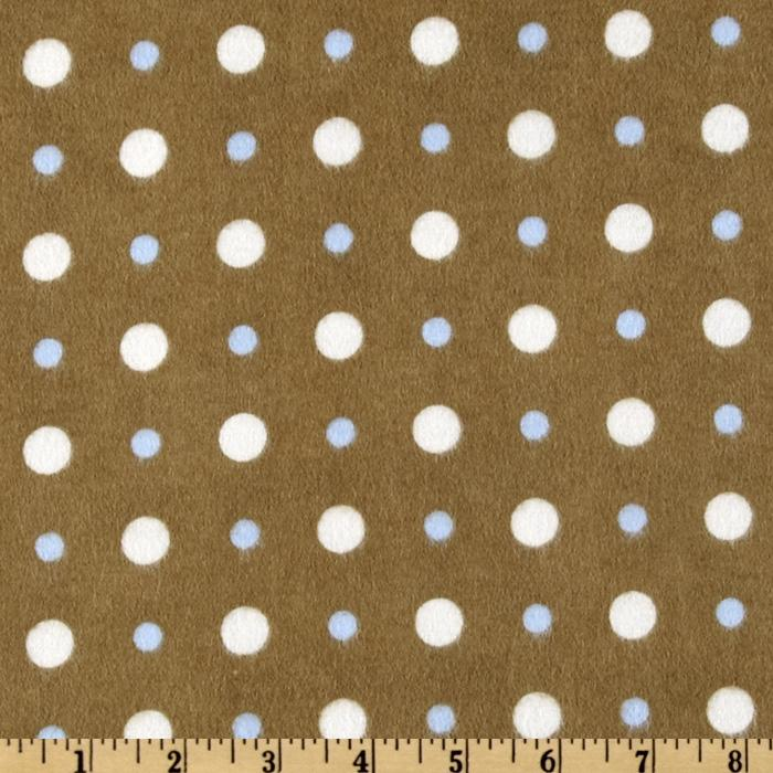 Snow Much Fun Flannel Dots Brown