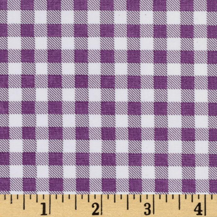 Oil Cloth Gingham Purple
