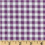 UH-129 Oil Cloth Gingham Purple