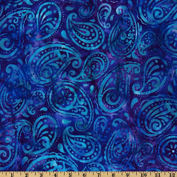 Cassie Batik Paisley Indigo