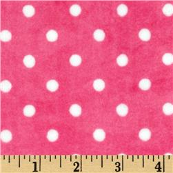 Minky Small Dots Pink/White