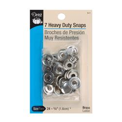 "Dritz Heavy Duty Snaps 5/8"" White"