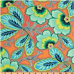 EQ-277 Amy Butler Lark Glamour Floral Couture Mandarin Orange
