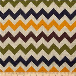 Printed Burlap Chevron Multi