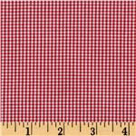 Woven 1/16&#39;&#39; Carolina Gingham Crimson