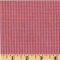 Woven 1/16'' Carolina Gingham Crimson