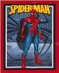 Spiderman Standing Wallhanging Panel Red