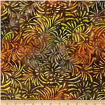 Batavian Batiks Petals Brown/Green