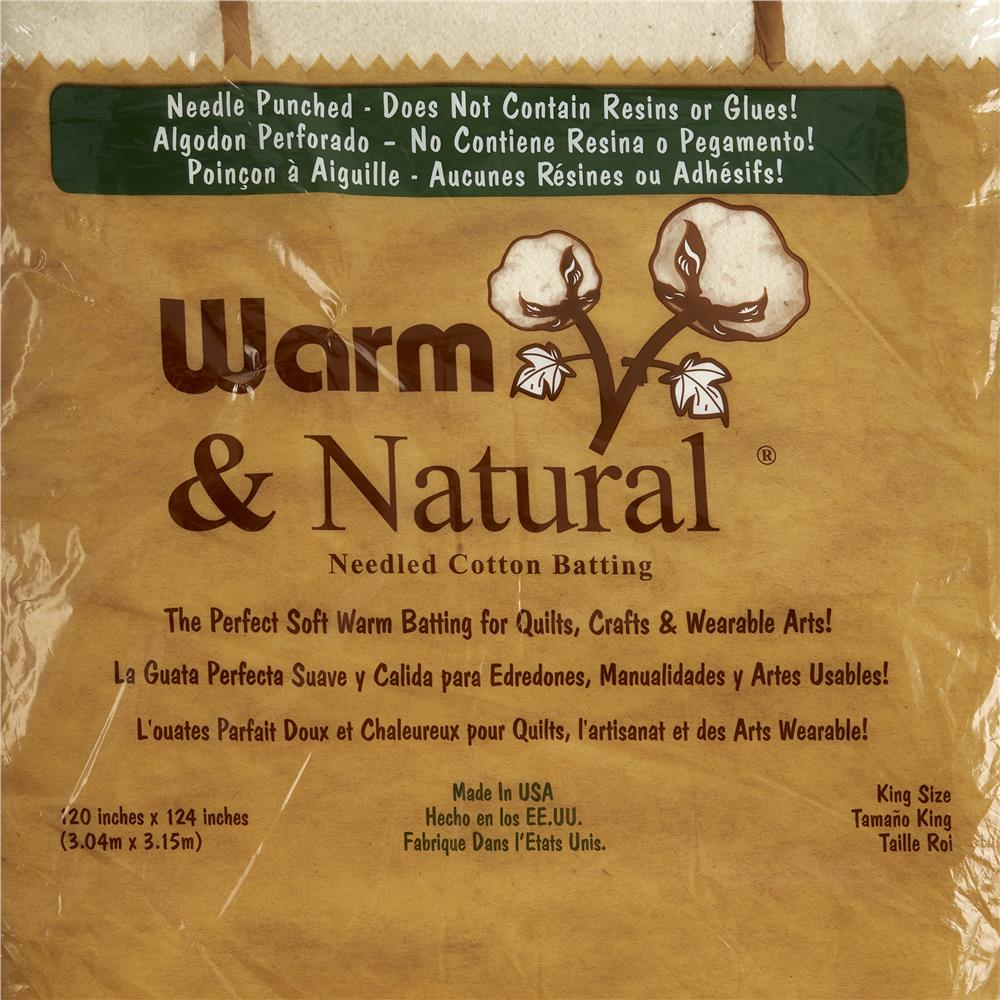 Warm &amp; Natural Cotton Batting King Size