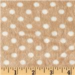 Minky Cuddle Polka Dots Small Tan/White