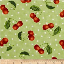 Moda Fresh Picked Cherries Green
