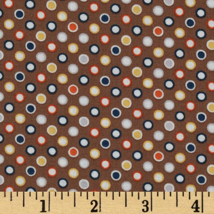 Riley Blake Super Star Mini Dot Tan