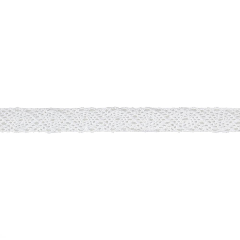 1/2'' Crochet Lace Ribbon White