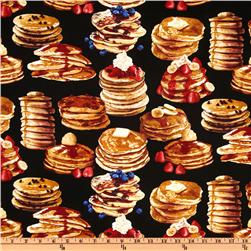 Timeless Treasures Pancakes Black