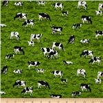 Farm Cows Green/Multi