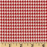 FT-565 Comfy Flannel Houndstooth Red