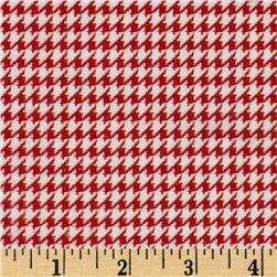 Comfy Flannel Houndstooth Red