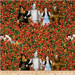 Wizard of Oz Characters in Poppy Field Red/Multi