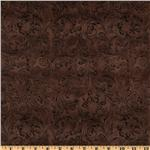 Bijoux Faux Leather Floral Flourish Dark Brown