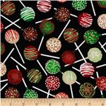 0283577 Timeless Treasures Holiday Treats Cake Pops Multi