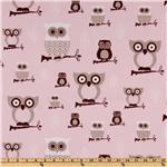 UH-243 Premier Prints Hooty Owl Bella Pink/Cozy