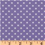 Crazy for Dots & Stripes Dottie Purple/White