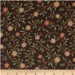 0293080 Maddie Floral Vines Dark Brown