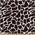 Stretch Cotton Sateen Giraffe Brown/White
