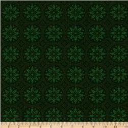 Christmas Spectacular Metallic Winter Medallions Green