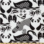 221551 Panda &amp; Birds White