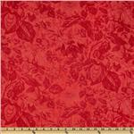 Moda Papillon 108&#39;&#39; Quilt Backing Floral Scarlet