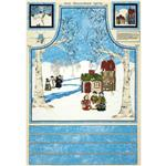 Cool Characters Apron Panel Light Blue