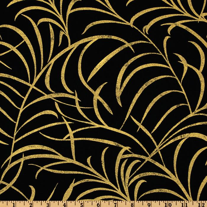 Plume Leaves Gold/Black