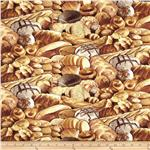 0289525 Timeless Treasures Food Bread Beige