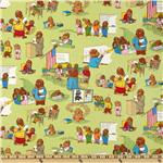 Moda Bear Country School Classroom Scenes Green