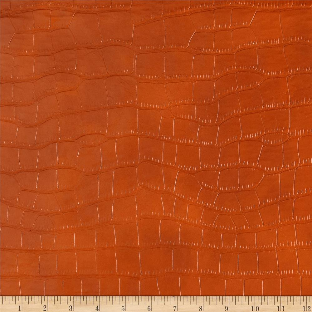 Richloom Faux Crocodile Gladiator Orange