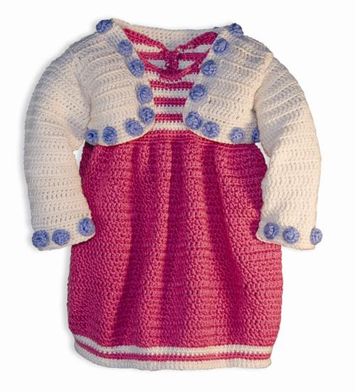 Brite Babies Pretty In Pink Bubble Dress & Shrug Crochet Pattern