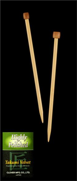 Clover Takumi Premium Bamboo Knitting Needles Single Pt. 13'' US 15 (10mm)
