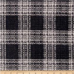 Wool Blend Coating Classic Plaid Black/Grey