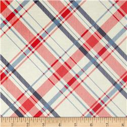 Riley Blake Vintage Verona Laminated Cotton Plaid Coral